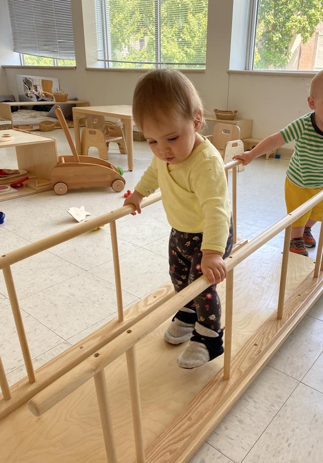 Authentic Montessori infants walking ramp