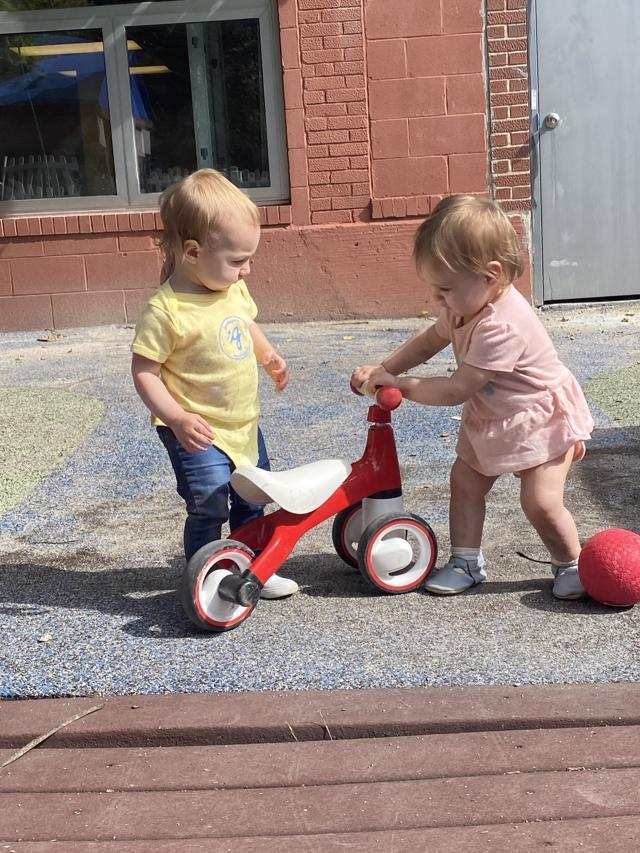 Playscapes, playground, outdoor school, Montessori school, city school, Newborn