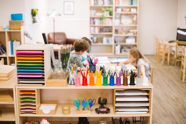Montessori elementary, materials, prepared environment, city school